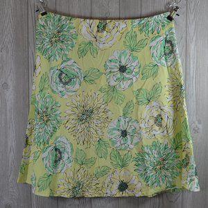 New York & Co Floral Cotton  Skirt PLUS SIZE 18